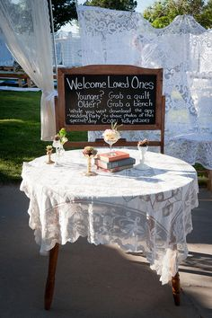 Welcome Table Sign w