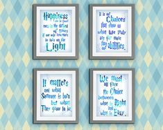 Harry potter Quote Printable Wall Art DIY  Pictures Personalized Boy Print Set of 4 Nursery room Birthday Gift Albus Dumbledore quotes