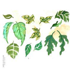 #day3 #30minpainting #leaves #creativebug #cbdrawaday #green #illustration #nature #natuur