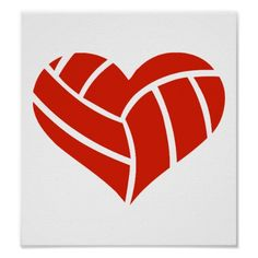 Volleyball heart print