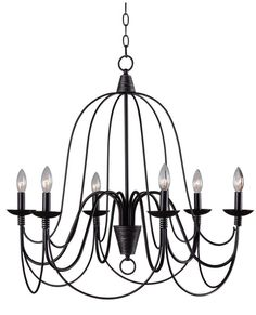 View the Kenroy Home 93066ORB Pannier 6 Light 1 Tier Candle Style Chandelier at LightingDirect.com. Kitchen Table $216