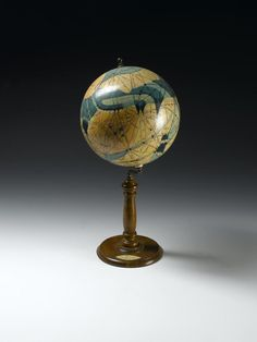 Globe of Mars showing the alleged canals, by Ingeborg Brun, Denmark, c. 1914