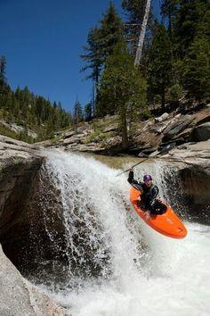 """Kayaker on Silver Creek - This kayaker was photographed on Silver Creek - South Fork, near Icehouse Reservoir, CA. Parkour, Whitewater Kayaking, Canoeing, Trekking, Kayak Adventures, Outdoor Adventures, White Water Kayak, Ski, Adirondack Park"