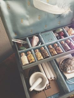 The Witch's Charm Box Blue W/ Key by MoveWithTheMoon on Etsy