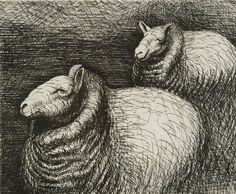 Henry Moore Sheep || I like the neck wool, looks like a turtleneck reminds me of Duerer's Rhino