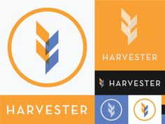 Harvester Logo designed by J. Connect with them on Dribbble; Church Logo, Creative Professional, Messenger Logo, Logo Design, Organic Logo, Brand Identity Design, Tech Company Logos, Design, Logos