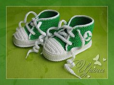 Converse style baby booties