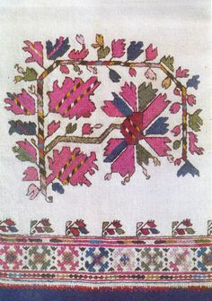 Traditional Bulgarian embroidery pattern.