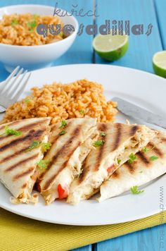 kuřecí quesadillas No Salt Recipes, Baby Food Recipes, Cooking Recipes, Tea Time, Quesadillas, Sandwiches, Tacos, Paleo, Brunch