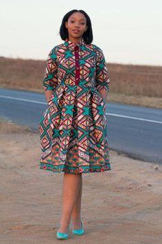 Multi coloured african print dress ankara by EssieAfricanPrint African Print Dresses, African Fashion Dresses, African Attire, African Wear, African Women, African Dress, African Prints, Ghanaian Fashion, African Inspired Fashion