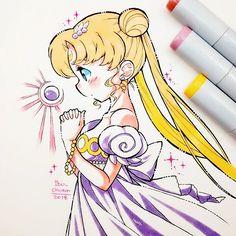 Princesita . . Extraño pintar de manera difuminada con los copics, pero aún no he podido comprar las recargas de color y estoy aburrida de pintar de manera plana :'(