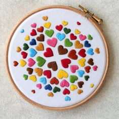 heart detail The Hearts embroidery kit is back in stock now The first batch was completely sold out. Its a perfect beginner level embroidery kit and makes a colourful home decor Grab Hand Embroidery Patterns Free, Diy Embroidery Kit, Embroidery Hearts, Hand Embroidery Videos, Embroidery Stitches Tutorial, Embroidery Flowers Pattern, Hand Embroidery Art, Creative Embroidery, Modern Embroidery