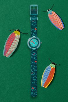 Nature Inspired, Look Cool, Bugs, Swatch, Textiles, Neon, Orange, Cool Stuff, Printed