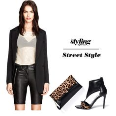 Leather Shorts... Fitted Bermuda shorts will lengthen your legs. Mix it with a sleek or boyfriend #blazer to give it a classy but also rock n roll edge. #rockchick #Leather #dianevonfurstenburg #outfit
