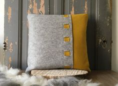 #cushion SINNEBLOM #pillow made of 100% #woolfelt.