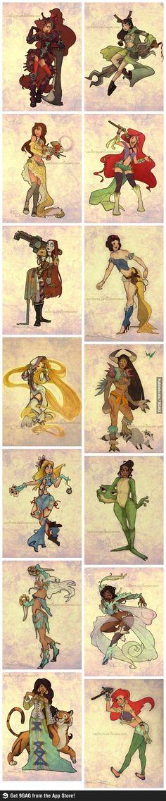 Disney Final Fantasy style by xskirtzx.deviantart.com