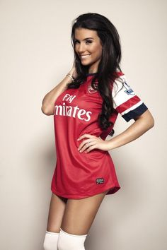 Looking for the hottest photos of Ludivine Kadri Sagna, the wife of Manchester City defender Bacary Sagna? Arsenal Fc, Arsenal Football Club, Hot Football Fans, Arsenal Ladies, Classic Football Shirts, Football Girls, Soccer Fans, Soccer Girls, Football Soccer