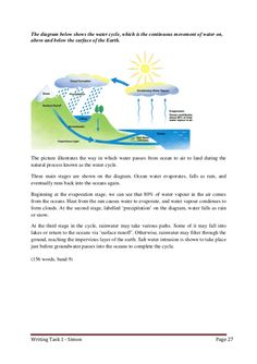 essay on water cycle Writing task 1 band 9 collection Ielts Writing Academic, Essay Writing Skills, Academic Vocabulary, English Writing Skills, English Vocabulary Words, Writing Words, Writing Practice, Writing Graphic Organizers, Ielts Tips