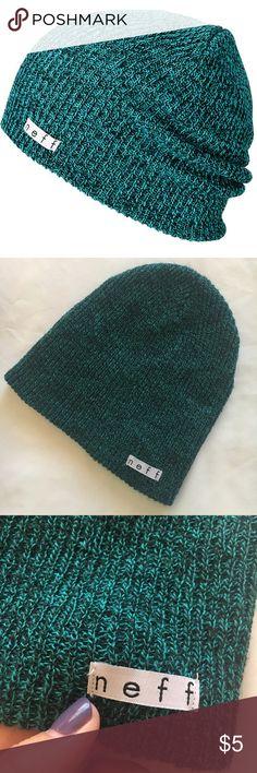 Neff Blue Green Beanie Neff blue green beanie. Never worn! Neff Accessories Hats