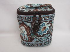 Vera Bradley Cool Keeper insulated lunch bag travel cosmetic baby bottle Java Blue   Retired