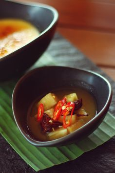Spiced pineapple cooked with star anise, cinnamon and chili
