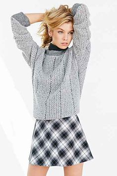Silence + Noise Cher Menswear A-Line Mini Skirt - Urban Outfitters