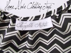 Tangible Artiste: Sign your Art: Handmade Labels.  Love the idea of sewing and turning so edges are smooth.
