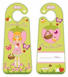 English Country Garden Lottie doll door hangers for kids #free #printables Download at www.lottie.com/create/
