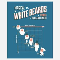 Fab.com | Magical White Beards  by Stephen Wildish $26