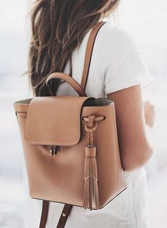 Backpacks are a summer fashion essential this year: whether youre heading to the beach for the day or jetsetting in style, our lion brown Worth Ave Backpack is an accessory must. Sac College, Fashion Bags, Fashion Accessories, Womens Fashion Backpacks, Cute Backpacks, Leather Backpacks, Cute Bags, Backpack Bags, Backpack Outfit