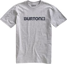 Burton Logo Horizontal Short Sleeve Heather Grey