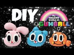 DIY Amazing World Of Gumball | EASY Polymer Clay or Cold Porcelain Charms | - YouTube