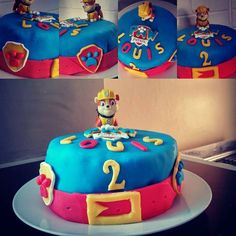Gâteau Pat Patrouille (Paw Patrol) Birthday Cake, Party, Desserts, Food, Baby Boy, Vanilla Cake, Easter Party, Little Boys, Tailgate Desserts