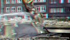 https://flic.kr/p/TcQj9M | Demolition Jufferstraat Up:Town Rotterdam 3D | anaglyph stereo red/cyan Wijnhaveneiland