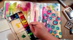 Art Journaling Fast Forward featuring matching stamps & stencils on Vimeo
