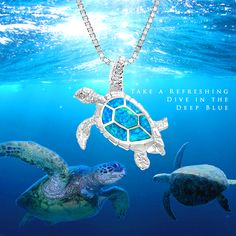 Koa wood turtle pendant sterling silver sea turtle pendant with koa turtle blue opal pendant one of our all time most popular designs part of aloadofball Choice Image