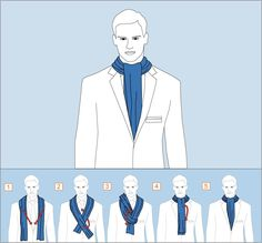 How to wear men's scarf Mens Scarf Fashion, New Fashion, Fashion Tips, Ascot, Suit Guide, Executive Fashion, Herren Outfit, Men Style Tips, Mens Suits
