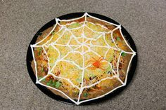 Quick and easy creepy crawly meal or snack.  Spiderweb #nachos are great for #halloween or as a snack while studying #bugs.
