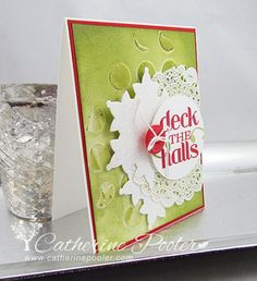 I had a ball making this card with Embossing Paste and stencils! http://catherinepooler.com/2013/11/embossing-paste-stencils/ #catherinepooler