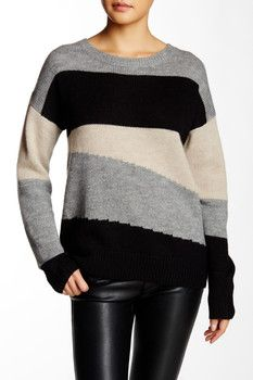 360 Sweaters Maurie Colorblock Sweater