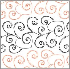 """Love© 2012 Patricia E. Ritter A single row is 6.25"""" wide – printed with one row – 144"""" long This is a SPECIAL ORDER paper pantograph - Please allow additional time for printing and shipping. * This design is available in both paper and digital. Please select your preference below. NOTE: All digital designs include the following conversions: CQP, DXF, HQF, IQP, MQR, PAT, QLI, SSD, TXT, WMF and 4QB or PLT. Most designs also include a DWF, GIF and PDF. This pattern was converted by Digitech."""