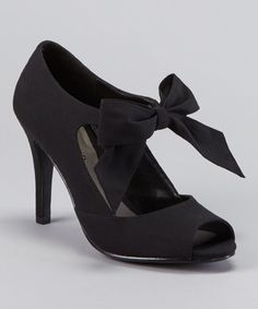 Take a look at this ann marino Black Garbo Pump on zulily today!