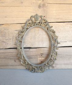 You CHOOSE Color Ornate Vintage Italian Oval Frame Picture Frame w/ or w/out GLASS Upcycled Large METAL Oval Frame Bathroom Nursery Bedroom