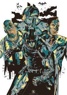 Batman Arkham Knight by Resnu Pradika Batman 2, Batman Arkham Knight, Batman The Dark Knight, Arkham City, Arkham Asylum, Comic Book Covers, Comic Books, Dc Comics, Arkham Games