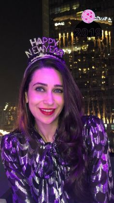 Karisma Kapoor wishes Happy New Year 2019 Karisma Kapoor, Happy New Year 2019, Katrina Kaif, Celebrities, Celebs, Bollywood, Crown, Lady, India