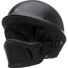 Bell Rogue Flat Matte Black Motorcycle Harley Chopper Bobber Half Helmet MD in eBay Motors | eBay