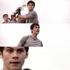 Stiles face is like did I make it! Of course not. Dylan O'brien, Teen Wolf Dylan, Teen Wolf Stiles, Teen Wolf Cast, Maze Runner 2014, Bae, Wolf Stuff, The Scorch Trials, O Brian