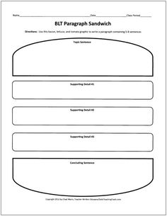 graphic organizer for writing a play