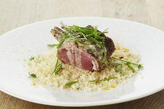 Recepten - Lamscarré met verse muntsaus en couscous