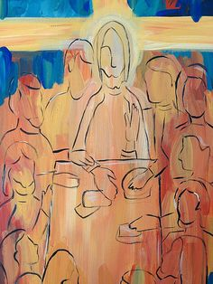 Last Supper Painting Abstract Christian Art
